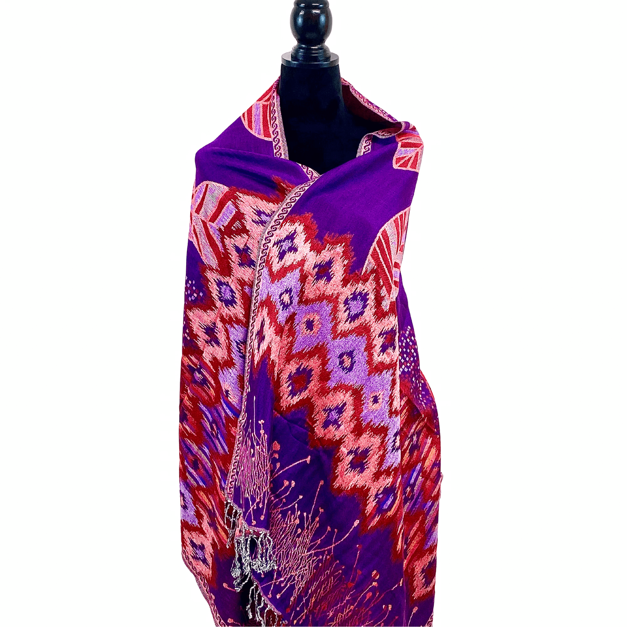 WyohFlowers Women's Clothing Orchid Purple Handwoven Cotton Shawl