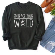 Load image into Gallery viewer, Embrace Your Wild Crewneck Sweatshirt