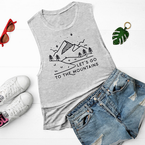 Let's Go To The Mountains Women's Tank