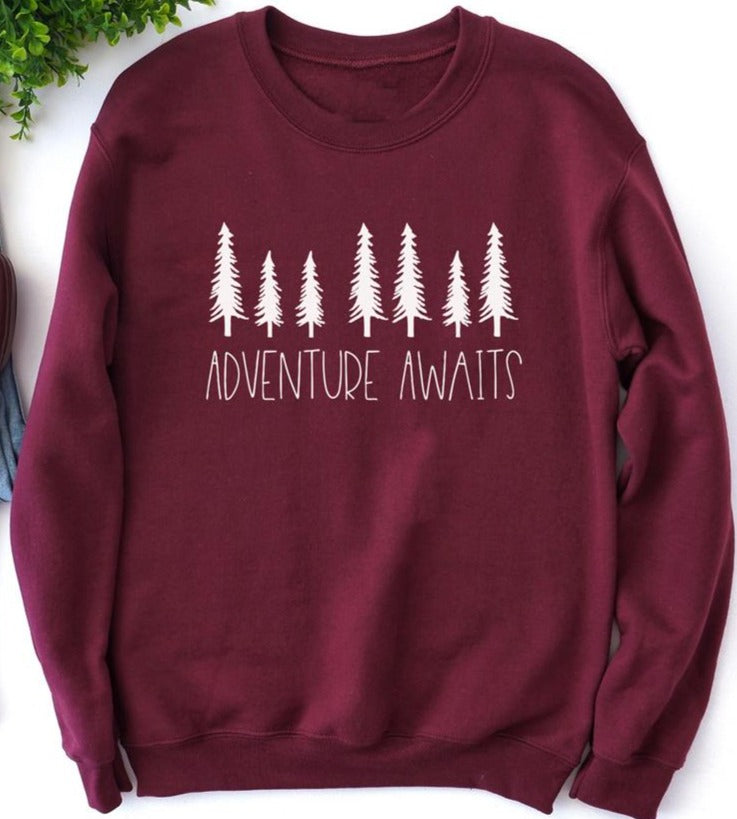 Adventure Awaits Crewneck Pullover