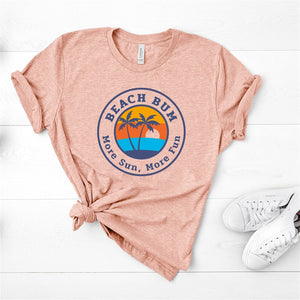 Beach Bum More Fun Graphic Tee