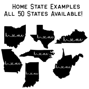Home State Graphic Tee For All 50 States