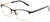 Tango Optics Cateye Metal Eyeglasses Frame Luxe RX Stainless Steel Jocelyn Burnell Black For Prescription Lens