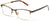Tango Optics Cateye Metal Eyeglasses Frame Luxe RX Stainless Steel Jocelyn Burnell Brown For Prescription Lens