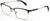 Tango Optics Square Metal Eyeglasses Frame Luxe RX Stainless Steel Nikolaas Tinbergen Black Silver Accent For Prescription Lens