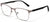 Tango Optics Square Metal Eyeglasses Frame Luxe RX Stainless Steel Grace Hopper Grey For Prescription Lens