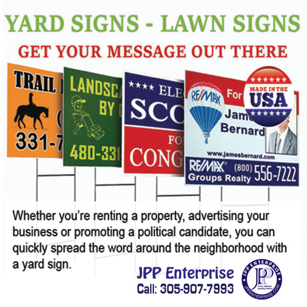 yard signs/Political signs