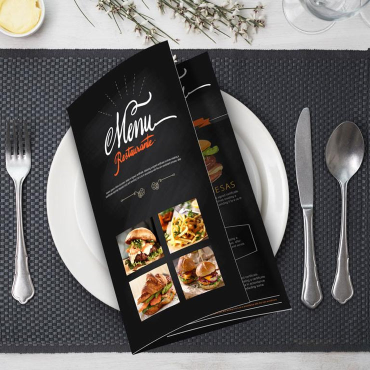 Menus (call for prices)