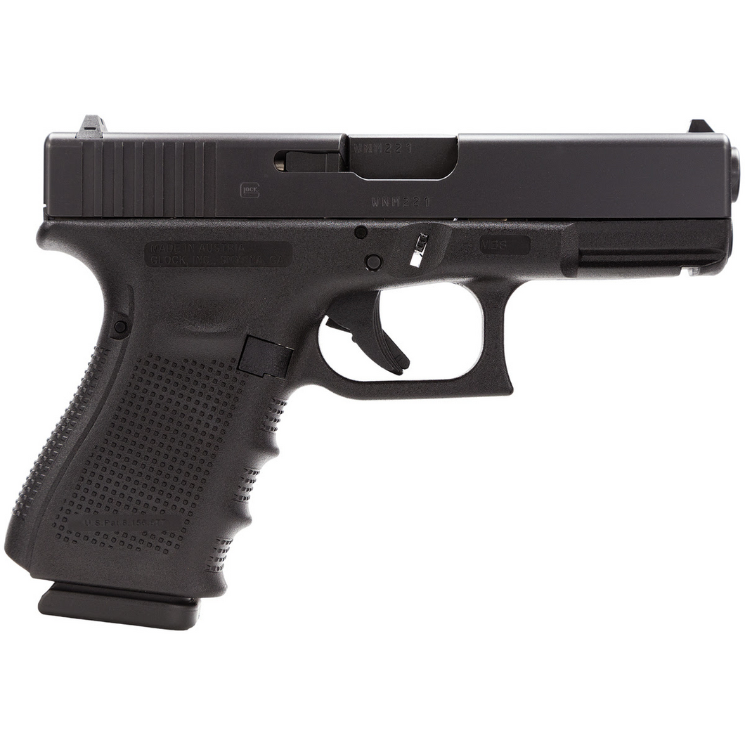 Glock 19Gen4 9mm (15)-shot 3-magazines