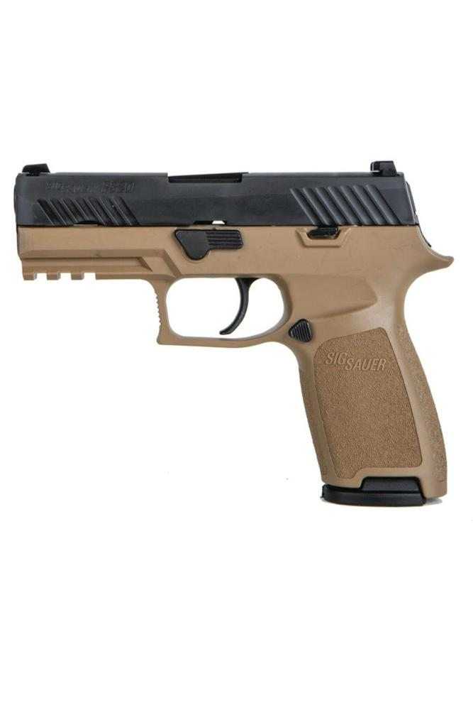 Sig Sauer Model P320 XCARRY REVERSE TWO-TONE COYOTE 9mm 17-shot  2-magazines X-Ray Night-Sights