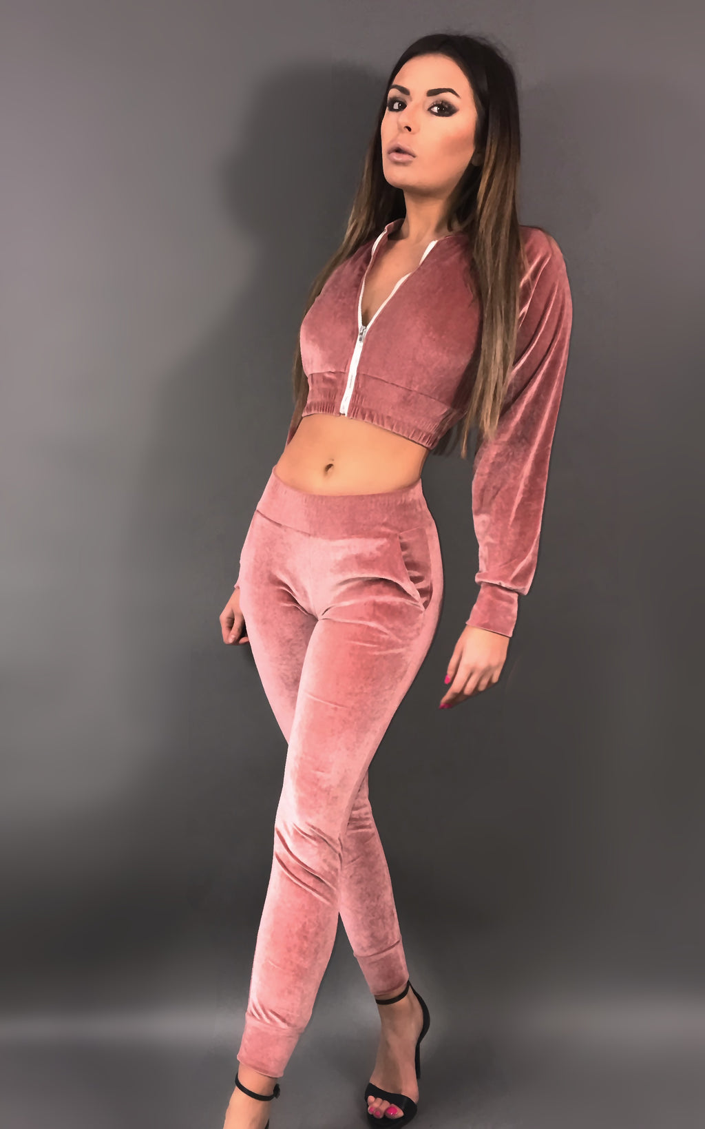 Taylor Ensemble Velour - Rose
