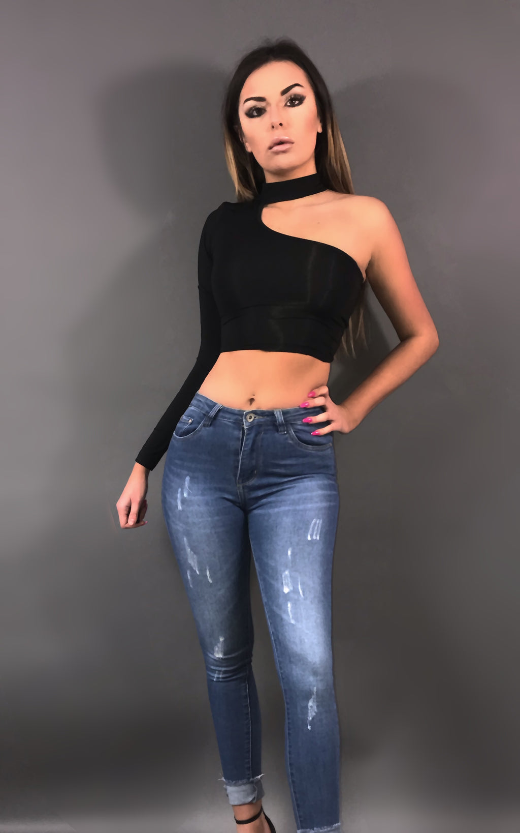 Margot Crop Top - Noir