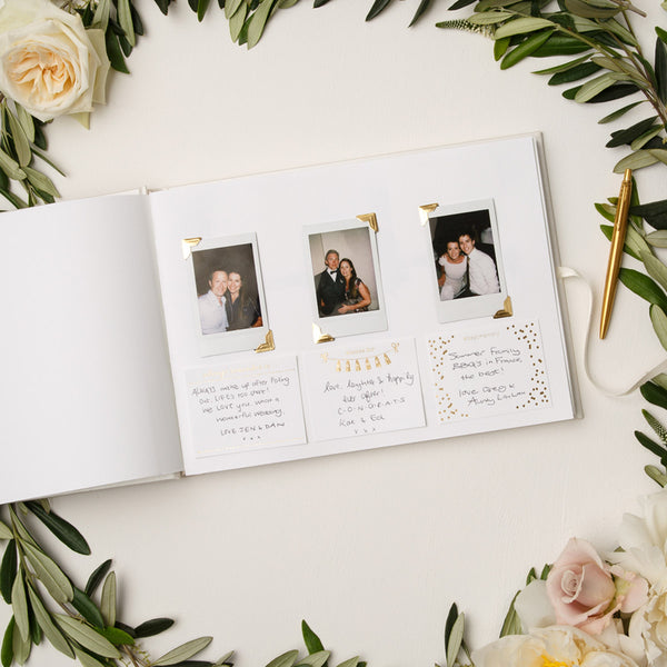 Pearl Wedding Guest Book