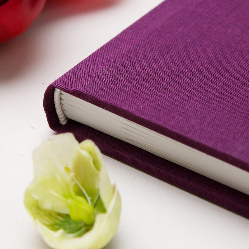 Burgundy Purple Wedding Guest Book