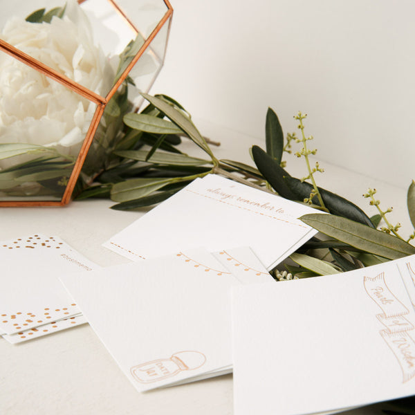 Wedding Guestbook Prompt Cards