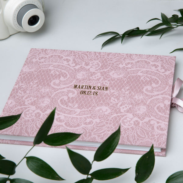 Blush Lace Wedding Guest Book