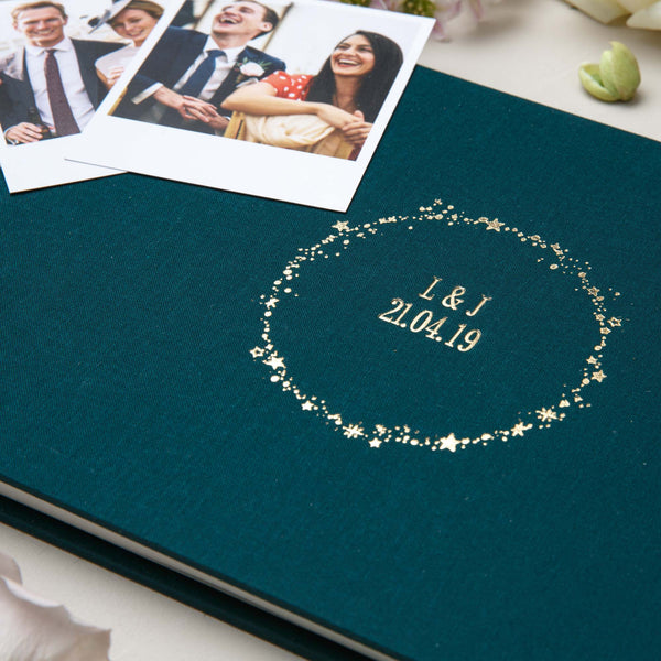 Deep Forest Green Wedding Guest Book