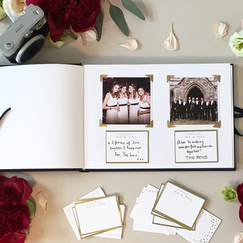 Navy Lace Wedding Guest Book