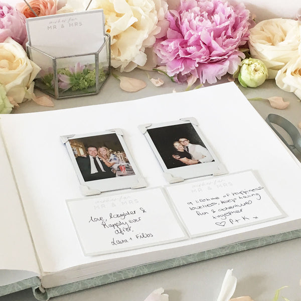 Sage Lace Wedding Guest Book