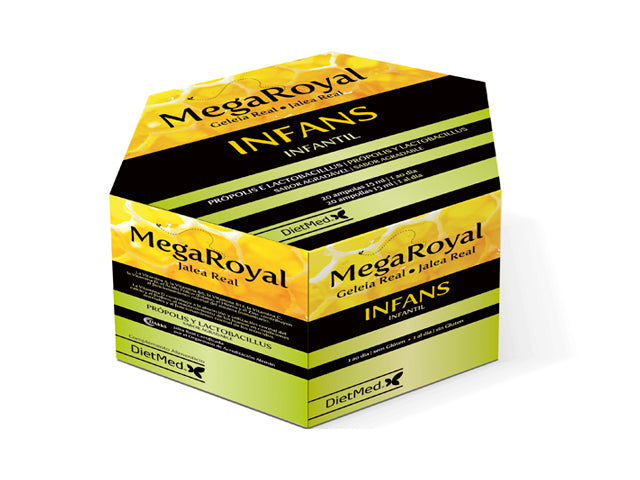 MEGAROYAL INFANS | 20 X 15ML AMPOLLAS