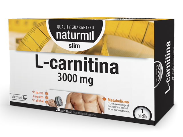L-CARNITINA SLIM 3000MG 20 X 15ML AMPOLLAS NATURMIL