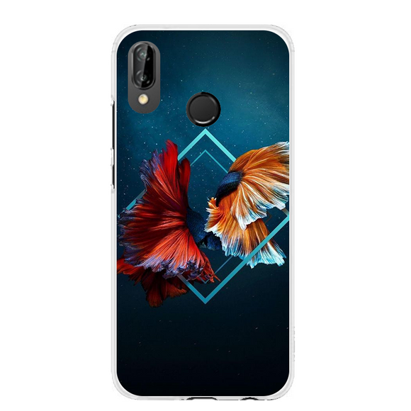 Husa Huawei P20 Lite Abstract Fishes - Prestige-Boutique.ro
