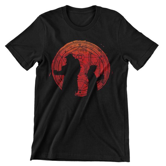 Tricou negru Full Metal Alchemist Brothers Red