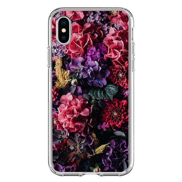 Husa iPhone X Colorfull Flowers