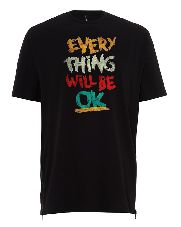 Tricou Negru Everything will be OK - Prestige-Boutique.ro