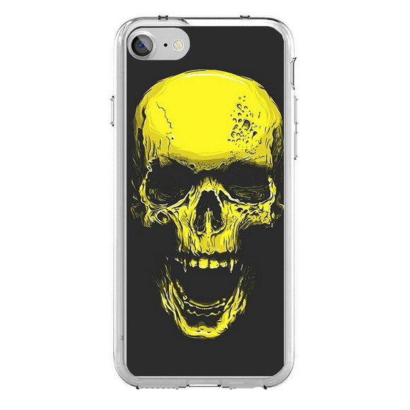Husa iPhone 7 Gold Skull