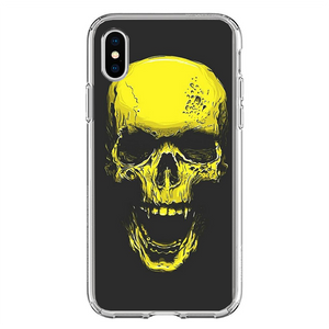Husa iPhone X Gold Skull