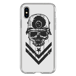 Husa iPhone X Military Skull