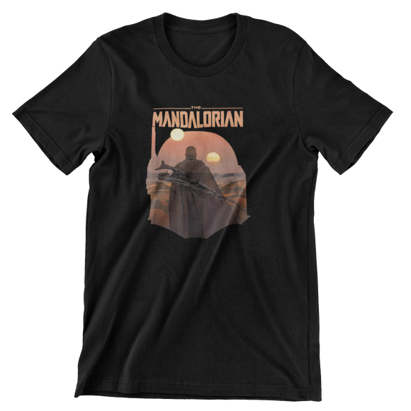 Tricou Copii Negru Star Wars The Mandalorian #2