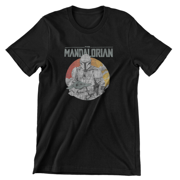 Tricou Copii Negru Star Wars The Mandalorian