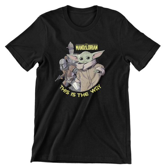 Tricou Copii Negru Star Wars Yoda This Is The Way