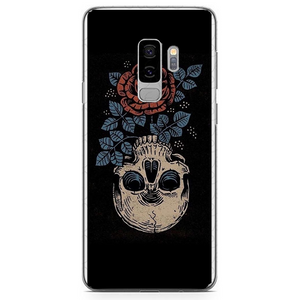 Husa Samsung Galaxy S9 Plus Rose Skull