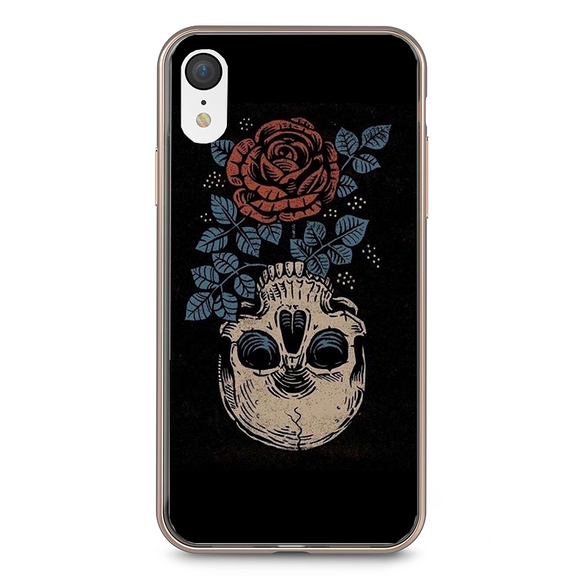 Husa iPhone XR Rose Skull