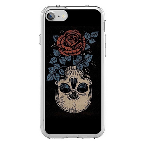 Husa iPhone 7 Rose Skull