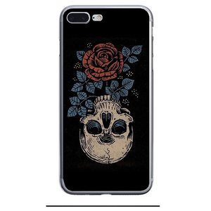 Husa iPhone 7 Plus Rose Skull