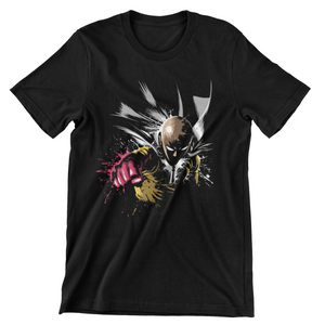 Tricou negru One Punch Man Splash
