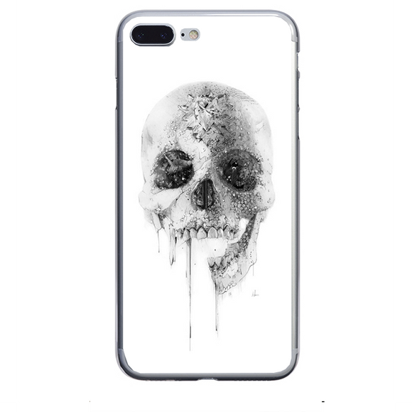 Husa iPhone 7 Plus White Skull