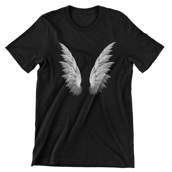 Tricou negru Lucifer Wings