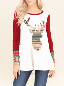 Christmas Printed Casual Animal Printed Hoodie