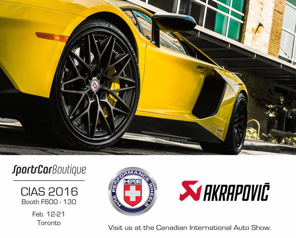 SportsCarBoutique Represents HRE & Akrapovic at 2016 Toronto Autoshow