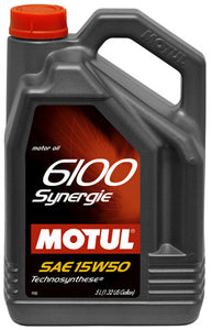 MOTUL ENGINE OIL 6100 SYNERGIE 15W50 5L - SportsCarBoutique
