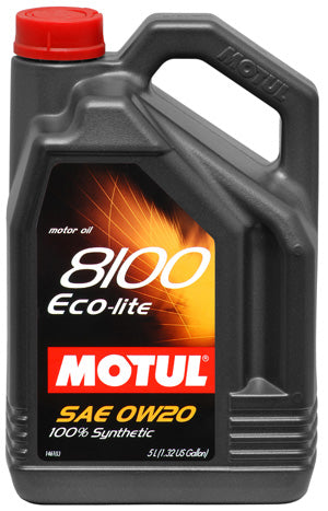 MOTUL ENGINE OIL 8100 ECO-LITE 0W20 5L - SportsCarBoutique
