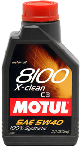 MOTUL ENGINE OIL 8100 X-CLEAN 5W40 C3 1L - SportsCarBoutique