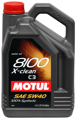 MOTUL ENGINE OIL 8100 X-CLEAN 5W40 C3 5L - SportsCarBoutique