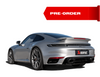 PORSCHE 911 TURBO / TURBO S (992) 2021 Slip-On Race Line (Titanium) AND Tail pipe set (Titanium) - Black