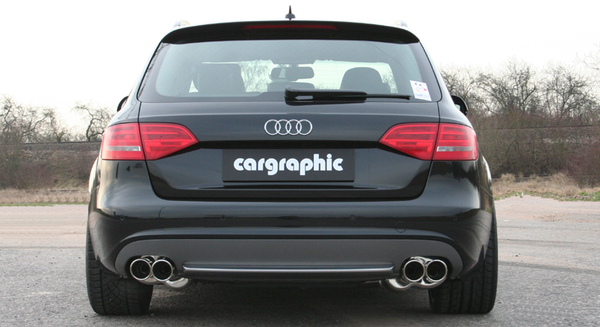 Audi (B8) A4/S4/A5/S5 - Cargraphic Sport Rear Silencer Sets - SportsCarBoutique